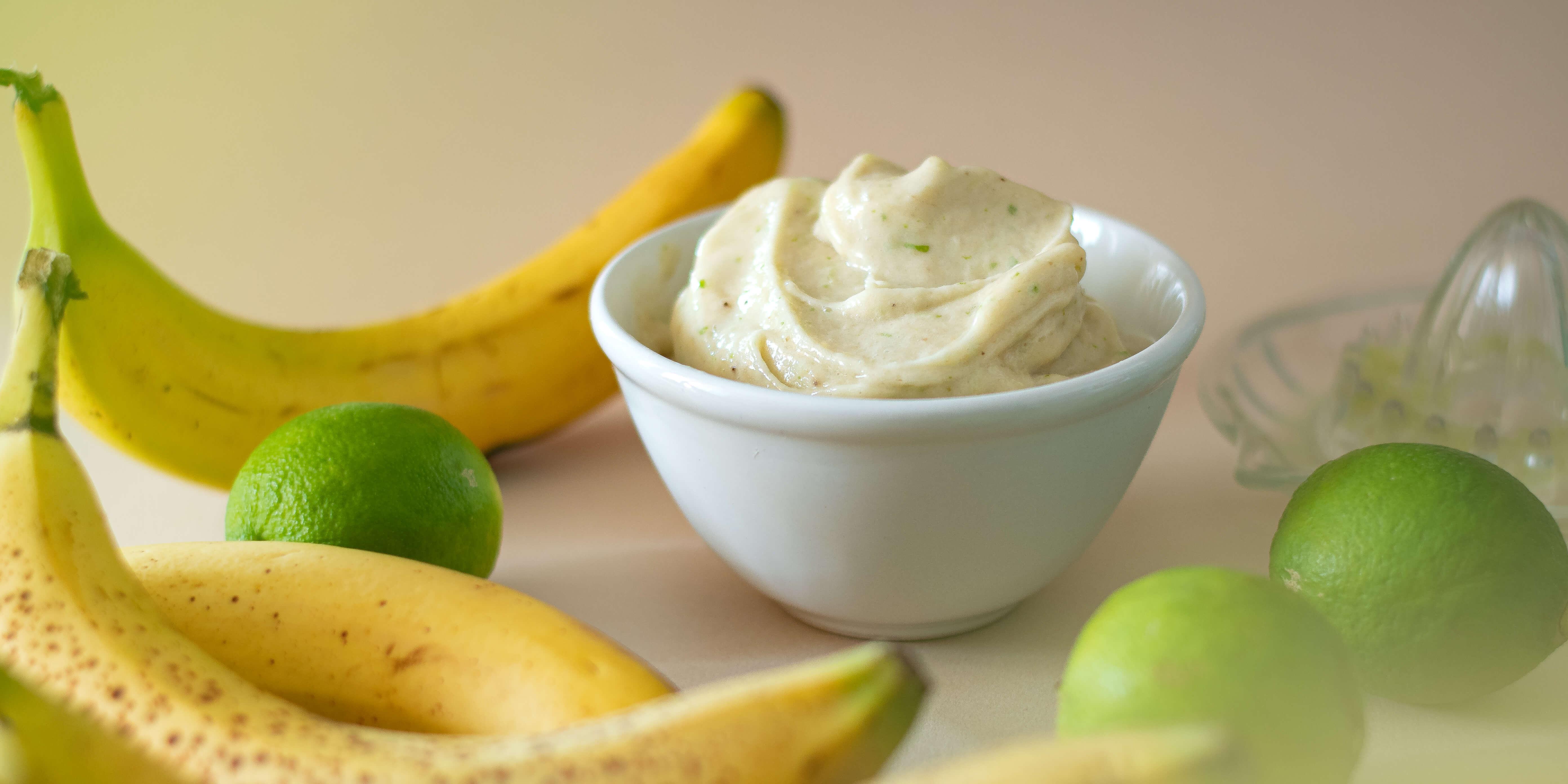 Glace minute au citron vert {sans sorbetière, vegan, sans gluten}