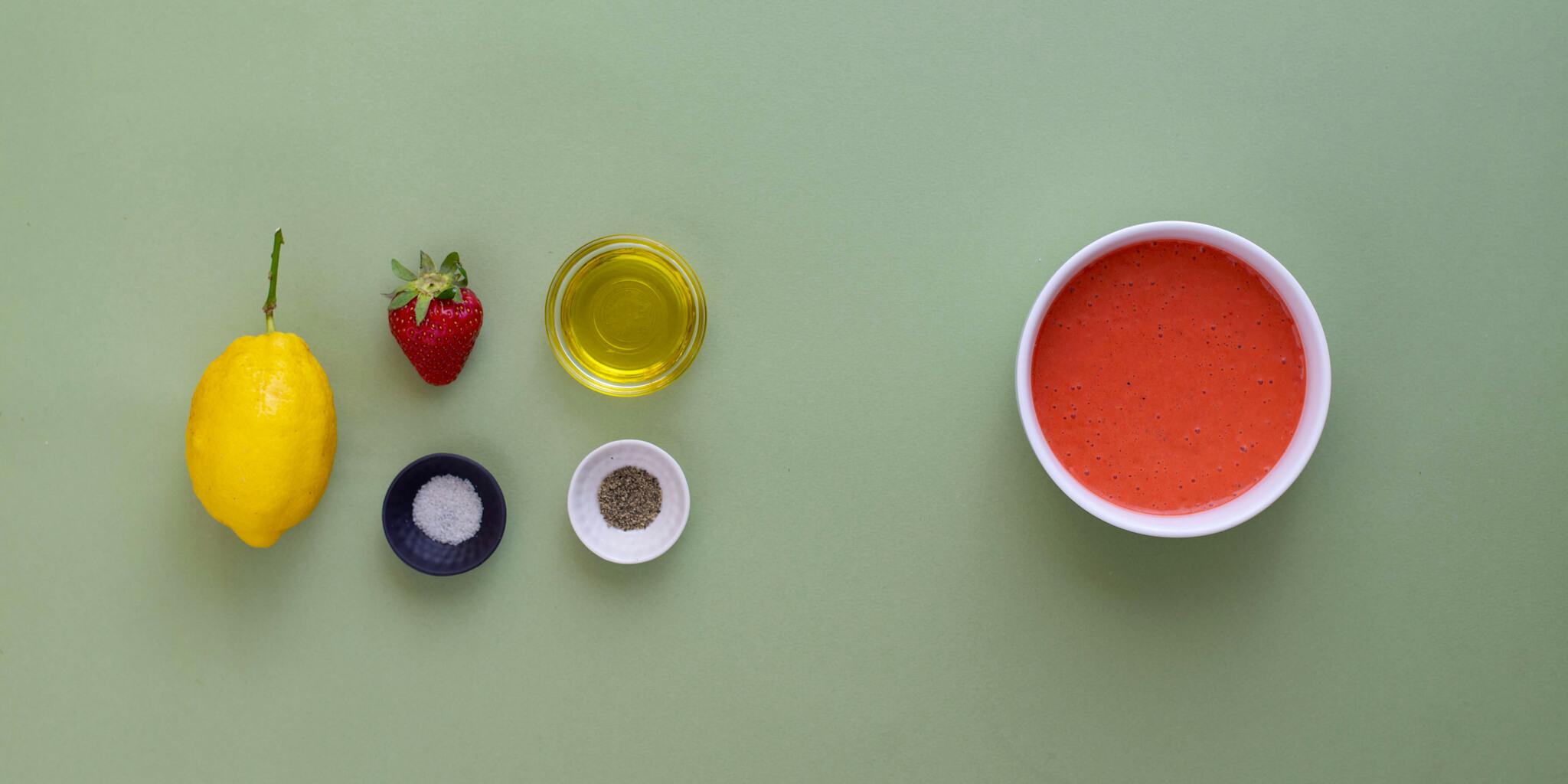 Sauce aux fraises {vegan, sans gluten}